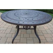oakland living belmont aluminum round patio dining table