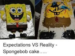 Pexpectations Vs Reality Spongebob Cakehellipp Spongebob
