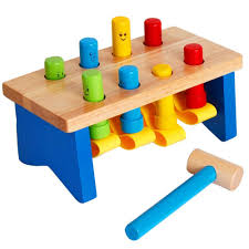 best deluxe wooden pounding bench with mallet early educational development toys for