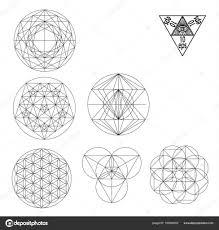 Symboly Posvátné Geometrie A Odznaky Vektorové Ilustrace Bokovky