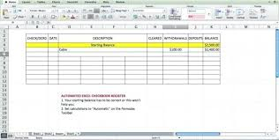 Free Excel Checkbook Register Bank Reconciliation Excel Template