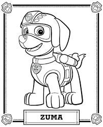Paw Patrol Marshall Coloring Page Rubble Paw Patrol Coloring Page