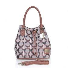 Coach Drawstring In Monogram Medium Coffee Medium CEH