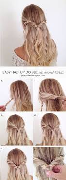 Hairstyle Easy Braided Curly Hair Thin Color Up School Straight