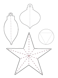 Paper Ornaments Templates Christmas Ball Ornament Printable Template