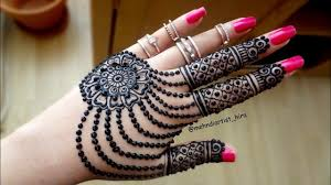 Latest Mehandi Designs For Diwali Diwali Special Famous Easy And Beautiful Jewellery Henna Mehndi Design For Hands For Eid Weddings