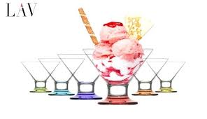 ice cream cups glass lav set of frosty colored base glass ice cream cups ml 6 ice cream cups glass