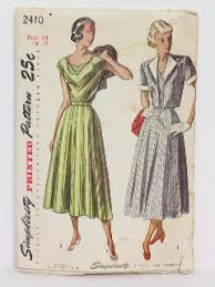 1940s Dress Patterns Classy Vintage 48's Dress Patterns At RustyZipperCom Vintage Clothing