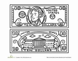 Ten Dollar Bill Worksheet