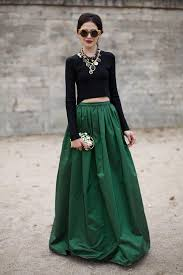 Gorgeous maxi skirts outfits ideas Crop Top Gorgeous Long Sleeved Crop Top Look Glam Radar Crop Top And Maxi Skirt Outfit Ideas Glam Radar