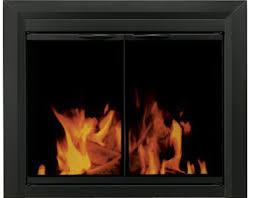 pleasant hearth carlisle fireplace glass door