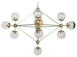 pluto chandelier small antique brass finish