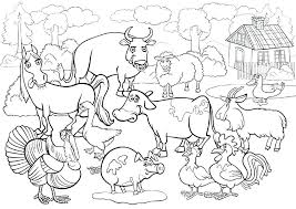 Farm Animals Drawing Barnyard Animals Coloring Pages Farm Animals