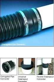 6 corrugated drain pipe and downspout connectors plus inch menards 6 drain pipe corrugated