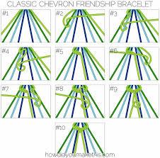 Chevron Friendship Bracelet Pattern