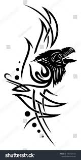 Tribal Tattoo Ornament Raven Head Stock Vector Royalty Free Best