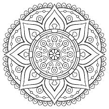 Mandala Coloring Pages Easy Printable Abstract Coloring Pages