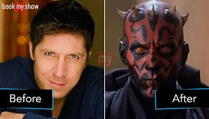 the look of darth maul the sith lord i think was cool he said i think with the makeup and the horns and the lenses and the teeth you just can t