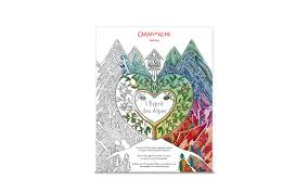 Colouring Book For Adults Spirit Of The Alps Caran D Ache