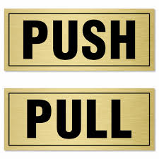 Pull Push Labels For Door Pack Of 2 Sku S 0995