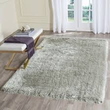 safavieh memory foam plush silver 4 ft x 6 area rug