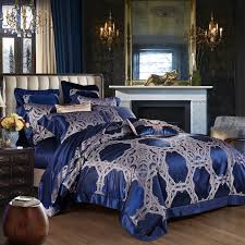1500tc king size luxury mulberry silk comforter bedding set blue palace duvet cover set couple bed sheet wedding home decor damask bedding queen size
