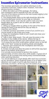 Incentive Spirometer Goal Chart How To Use An Incentive Spirometer Is Caregiverology