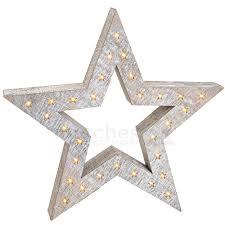 Weihnachtlicher Leuchtstern Weihnachtsdeko Holz Stern Led Beleuchtung 52x8 Cm Matches21