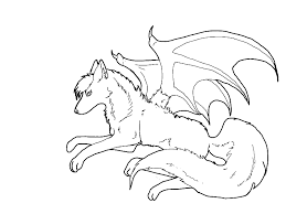 baby wolf drawing with wings. Wolves With Wings Drawing At GetDrawings For Baby Wolf