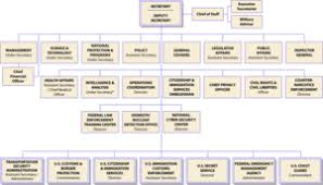 Organizational Chart Of The United States Depa Chain Of