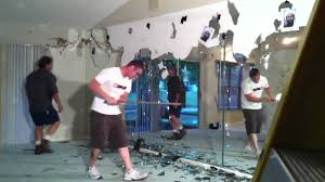 sumptuous how to remove wall mirror layout design minimalist demolishing a glass you with clips tiles