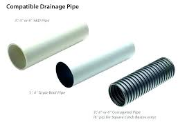 corrugated drain pipe plastic french installation 8 6 with sock corrugated drain pipe 6