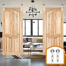 zekoo 8 ft 16 ft stainless steel roller sliding barn door hardware track closet cabinet