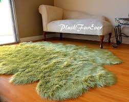 details about 36 x 58 olive green sheepskin area rug acrylics quad nursery accents cute rugs
