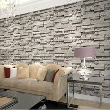 pvc grey brick wallpaper roll