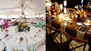 This one refuses to go over the top with simple rustic elegance. Rustic Wedding Theme Ideas Unique Event Decor Linen Rentals Wedding Table Linen Runners Chair Covers Bbj Linen
