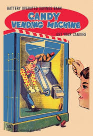 Vintage Candy Vending Machine Delectable Buyenlarge 'Candy Vending Machine' Vintage Advertisement Wayfair