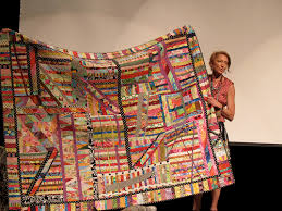 Eugene Modern Quilt Guild: Kathy Doughty-- Material Obsession! & A beautiful quilt, made from all of her UFOs-- I love it! (I have been  saying that a LOT today!) Adamdwight.com
