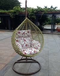 stunning outdoor nest chair hanging cushion furniture rattan
