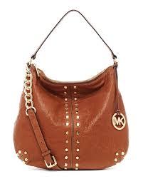 uk lyst michael kors uptown astor large shoulder bag in brown b5b3c 46b51