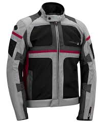 ke mystraal air textile jacket grey black red mystraal air summer