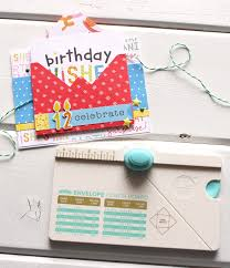 Envelope Punch Board Card We R Memory Keepers Blog