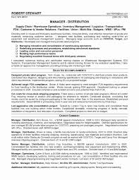 Resume Format For Logistics Manager New Supply Chain Sample