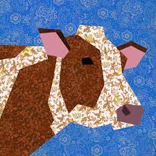 Cow paper pieced quilt block pattern PDF by #BubbleStitch on Etsy ... & Cow paper pieced quilt block pattern PDF by #BubbleStitch on Etsy Adamdwight.com
