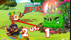 Angry Birds Epic: Gameplay (Dangers From The Deep) Matilda & Bomb Defeat  The World Boss by