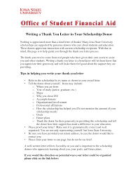 How To Write A Thank You Letter For A Scholarship Custom College