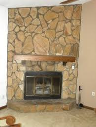 Painted Stone Fireplace Update | House, Stone fireplaces and ...