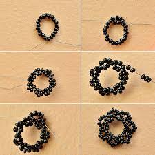 Seed Bead Patterns Mesmerizing Handmade Vintage Black Seed Bead Choker Necklace Carol's Crafts House