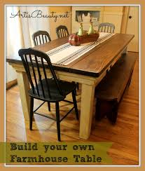 Farm Table Plans Art Is Beauty How To Build Your Own Farmhouse Table For Under 100