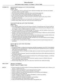 Software Quality Test Engineer Resume Samples Velvet Jobs